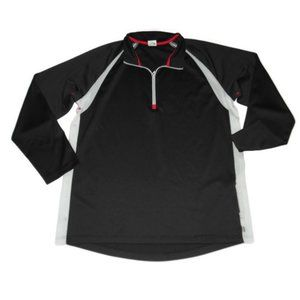 Alo Coolfit Black 1/4 Zip Long Sleeve Shirt XXL